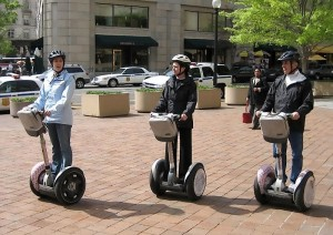 Peopel Riding Segway PT